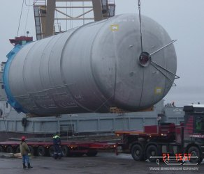 2012 Transportation of brewery tanks on a motor vessel of the